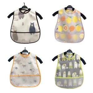 Baby Apron Feeding-Cloth Babador-Bandana Waterproof Children Adjustable Cartoon EVA
