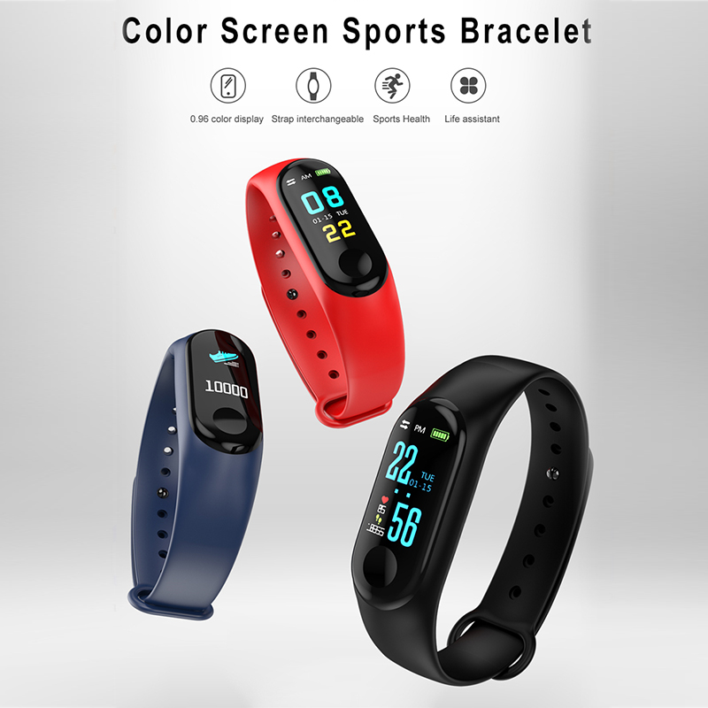 Digital Watches Watches Binssaw Men Women Smart Watch Sport Step Blood Oxygen Bluetooth Digital Clock Led Large Color Touch Screen Android Ios With Box
