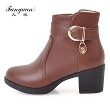 Fanyuan Zip Frauen Stiefel Starke Ferse Plattform Schuhe Schnalle Herbst  Winter Sexy Stiefel Für Frauen Reit Stiefeletten größe . e348e08cc8