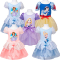 Fashion 5 Colors 2015 Summer Girls Cartoon Children  Baby Princess Dress Children Kids Party Custom Cosplay Dresses DCR36 Hot