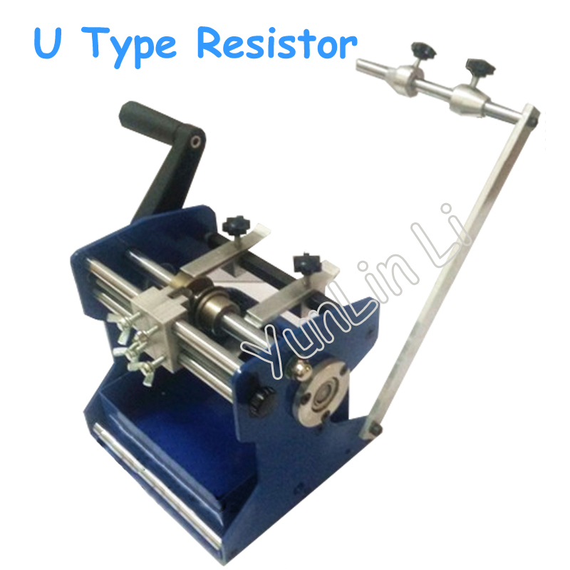 U Type Resistor Axial Lead Bend Cut & Form Machine Resistance Forming / U Type Resistance Molding Machine for Bending green fixed type pipe resistance 400w 120 ohm ceramic tube resistor