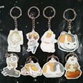 Natsume Yuujinchou 8pcs Action Figure Keychain Pendant Japanese Anime Figures Girls Children Christmas Gift Good Quality