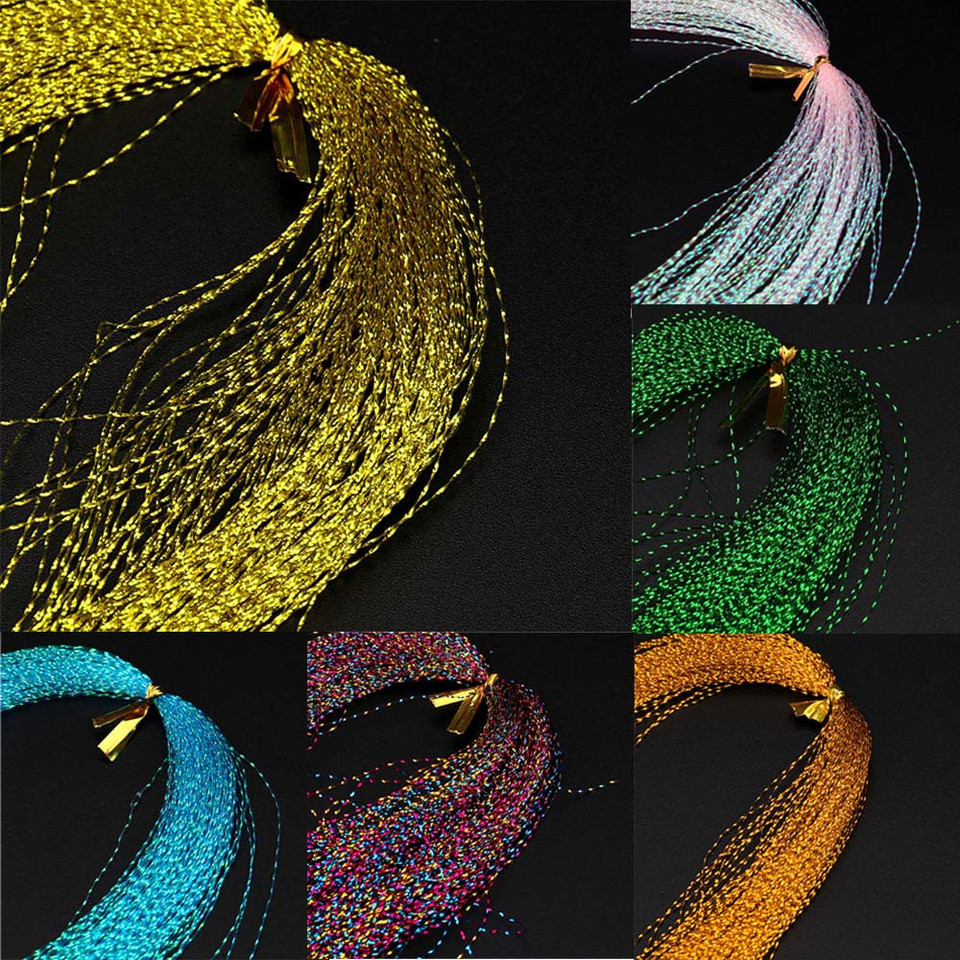 150X 30cm Crystal Flash Fly Tying Material Holographic Fishing Lure Tying Making