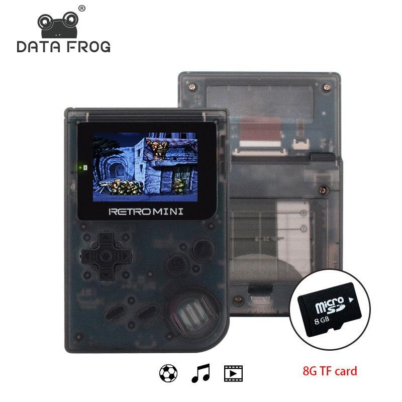 Данные лягушка Ретро игровая консоль 32 бит портативный мини портативный игровой плеер встроенный 940 для GBA классические игры Подарочная игр...