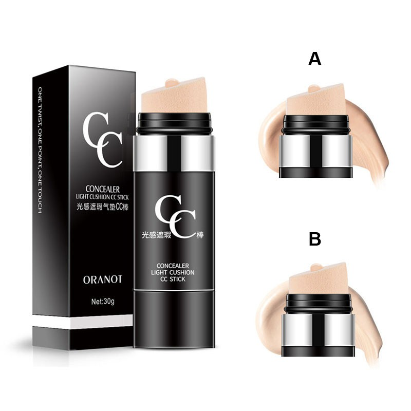 New Arrival Waterproof Long-lasting CC Stick Concealer Air Cushion Moisturizing Cover Blemishes Control Oil Brighten Skin Tone