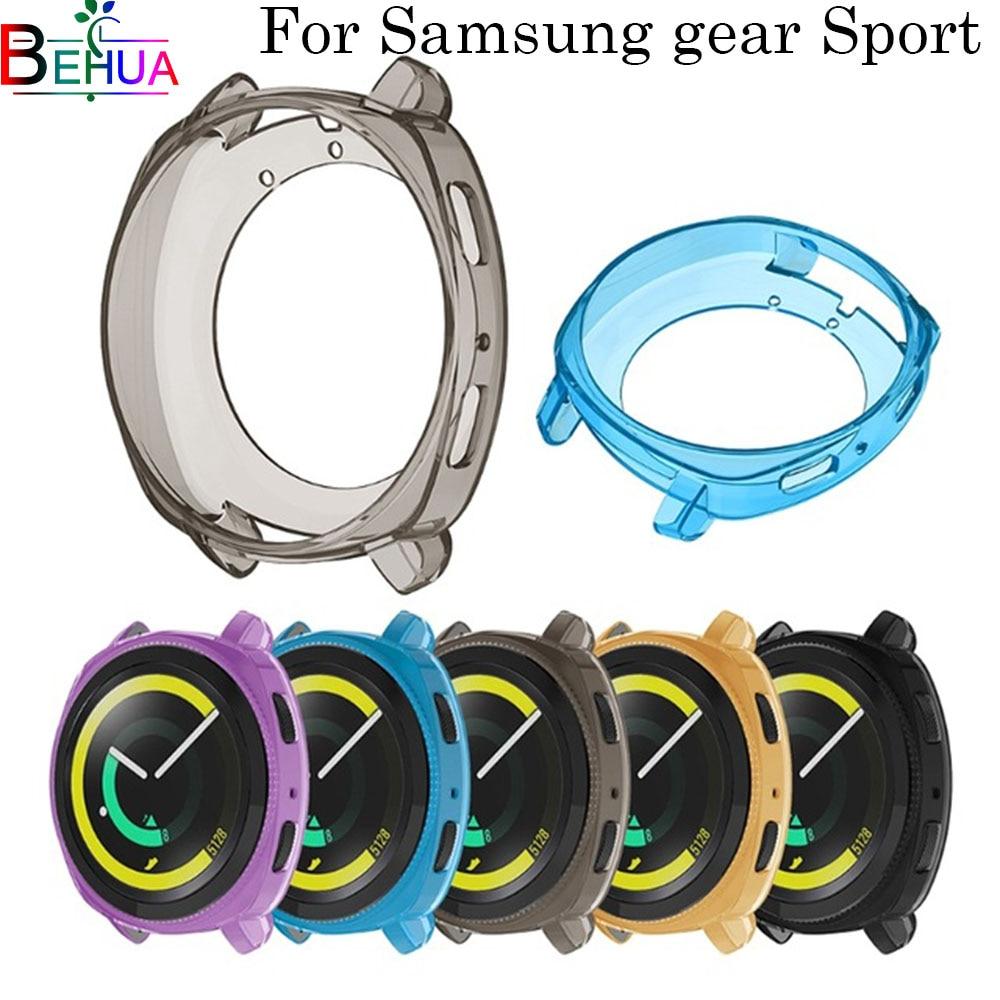 Silikon schutzhülle Uhr Volle Fall Für Samsung Getriebe Sport Uhr Klar Weichen Tpu Schutz Abdeckung smart uhr Zubehör