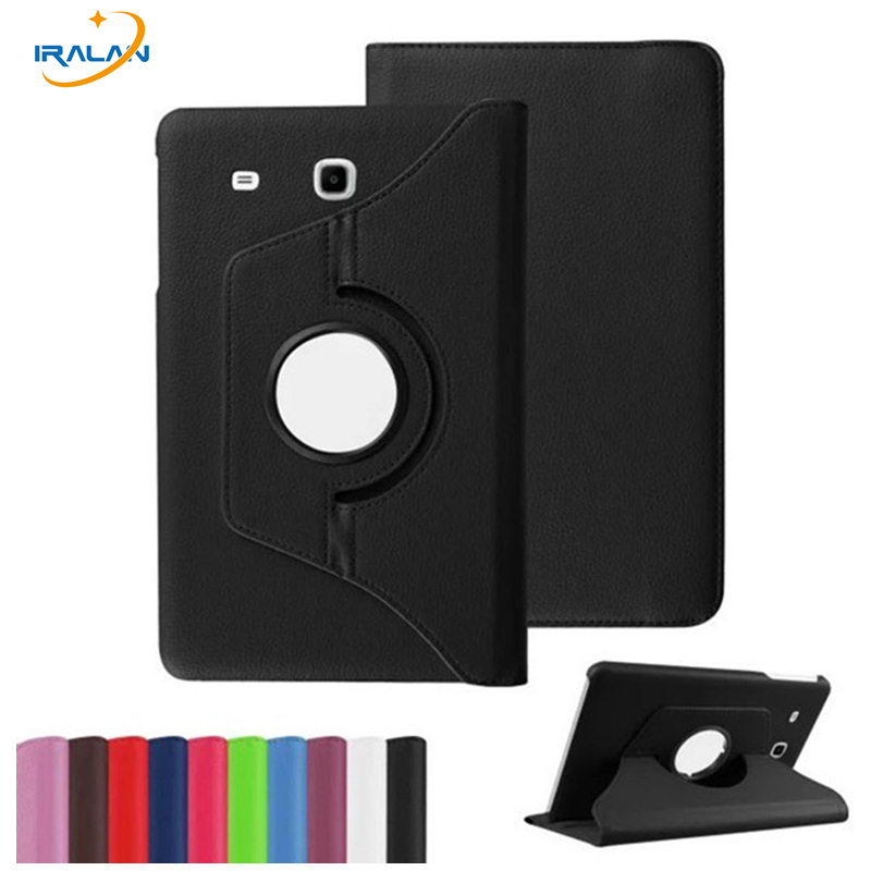 New Products Luxury 360 Rotating Tablet Case for Samsung Galaxy Tab E 9.6 T560 T561 Flip PU Leather Stand Cover+stylus pen+film luxury folding flip smart pu leather case book cover for samsung galaxy tab s 8 4 t700 t705 sleep wake function screen film pen
