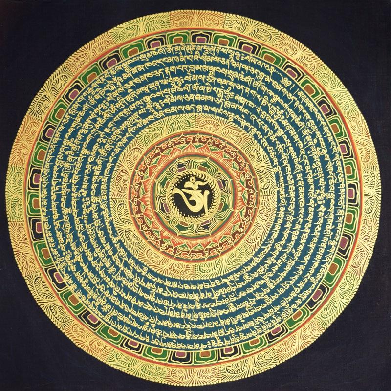 Chinese style Tibetan hand painted Tangka decorative painting Tangka Nepal mandala Corridor painting