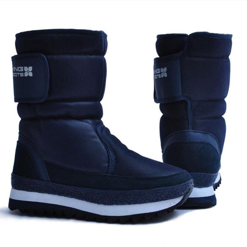 Women snow boots warm winter shoes women platform boots non-slip waterproof botas de mujer platform bowkont flocking snow boots