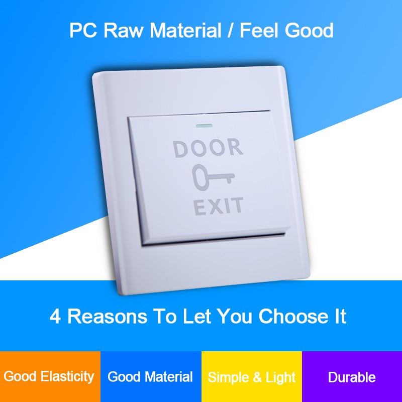 Eseye NO COM Exit Button Exit Switch For Door Access Control System Door Push Exit Door Release Button Switch Door Exit Button