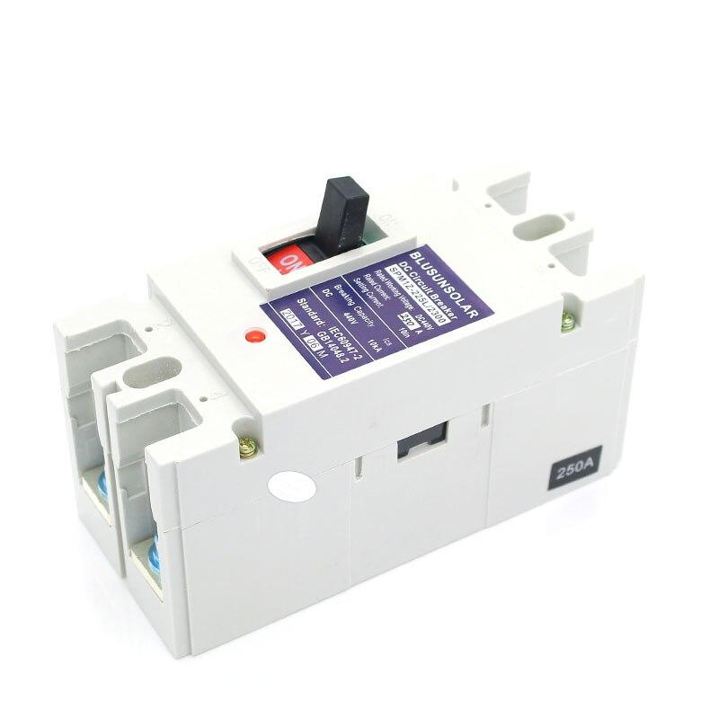 2 pcs/lot 2 P 200A DC440V DC interrupteur d'isolement MCB énergie solaire photovoltaïque PV boîtier moulé disjoncteur TF0182 - 5