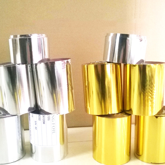3Rolls Gold Hot Stamping Foil Papers 4cmx120m Heat Press Paper for Leather Bronzing Machine PU Heat Transfer Paper Custom Design