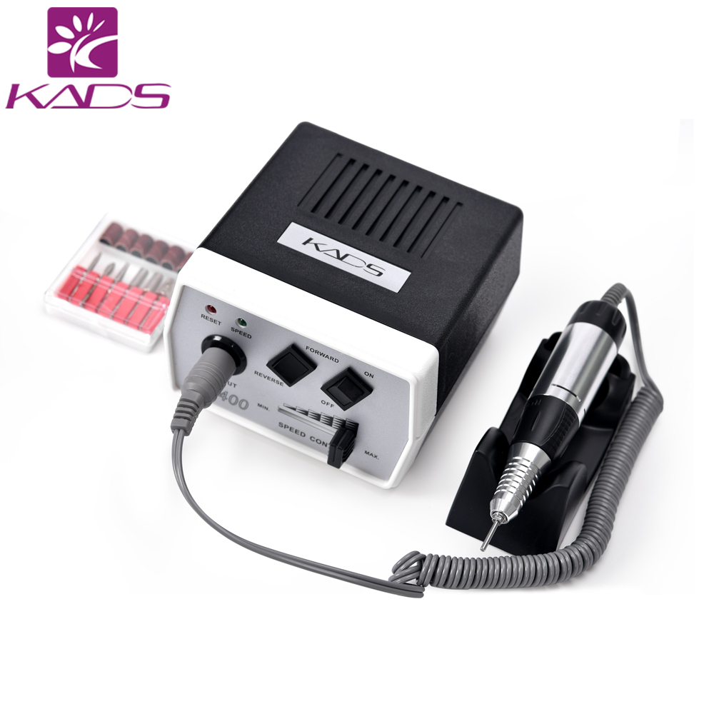 35W Black Pro Electric Nail Art Drill Machine Nail Equipment Manicure Pedicure Files Electric Manicure Drill