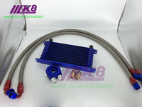 RACING TYPE Japanese 10 Row AN 10AN Universal A Complete Set Of Engine Transmission Oil Cooler