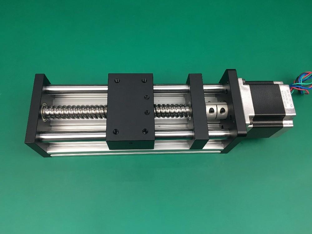 все цены на GGP 1204 300mm ball screw Sliding Table effective stroke  Guide Rail XYZ axis Linear motion+1pc nema 23 stepper motor онлайн
