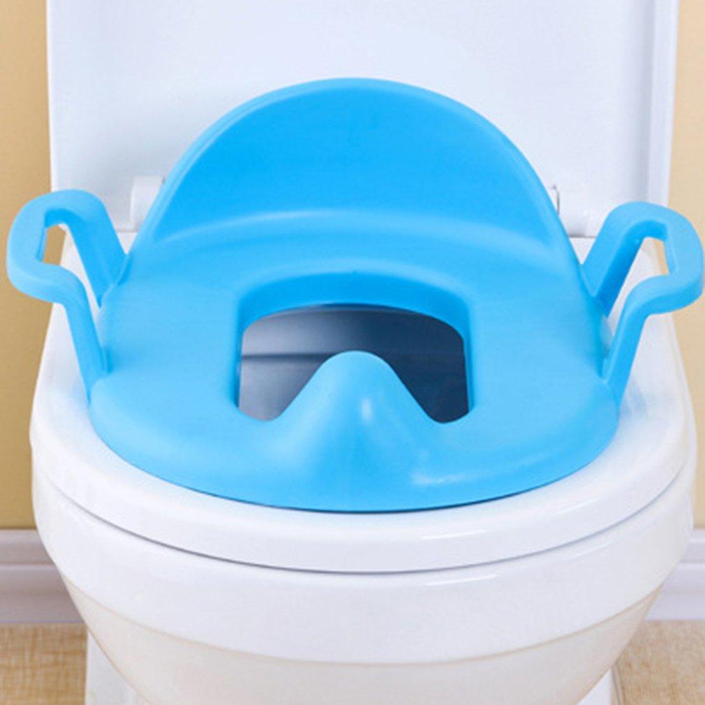2 цвета Детские Туалет тренер сиденье Пластик Туалет Potties стул утолщенный безопасност ...