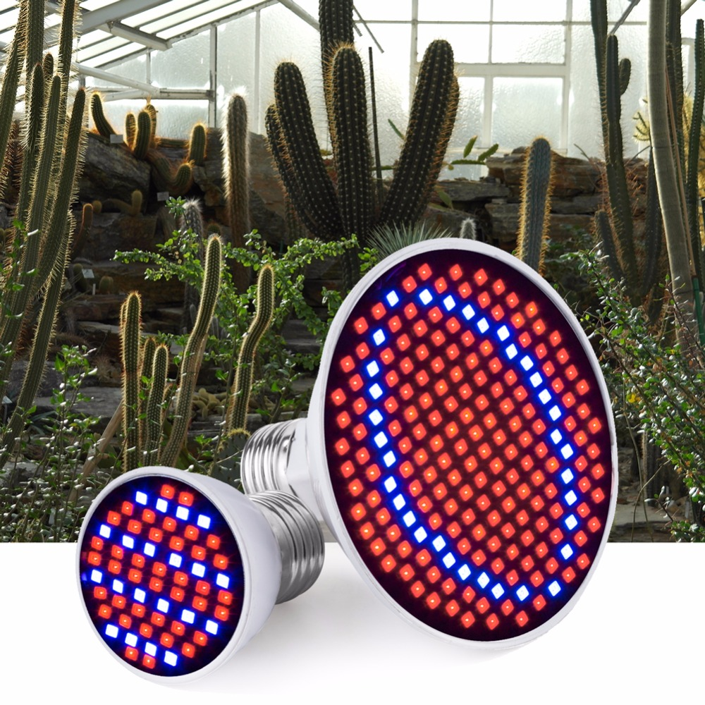 Led Grow Light E27 Full Spectrum AC 85-265V Indoor Growing Lamp E27 for Plants Flowers Seedlings Led Bulb 2835 60 126 200leds