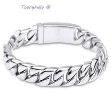 MB 568 Men Chain Bracelet 22CM Width 1.2CM 316L Stainless Steel Jewlery Men Gift Jewelry Link Bangle,Fahion, modern, wholesale