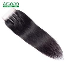 4x4 Brazilian Closure Straight Human Hair Free/Middle/Three Part Lace Closure 8