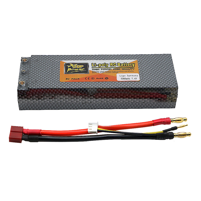 Original High Power 7.4V 5200mAh 40C 2S Lipo RC Battery Deans Plug Li-polymer for RC Helicopter lion power li po 11 1v 5300mah 40c high capacity lithium polymer battery for rc heli cars truck r c model toy free shipping