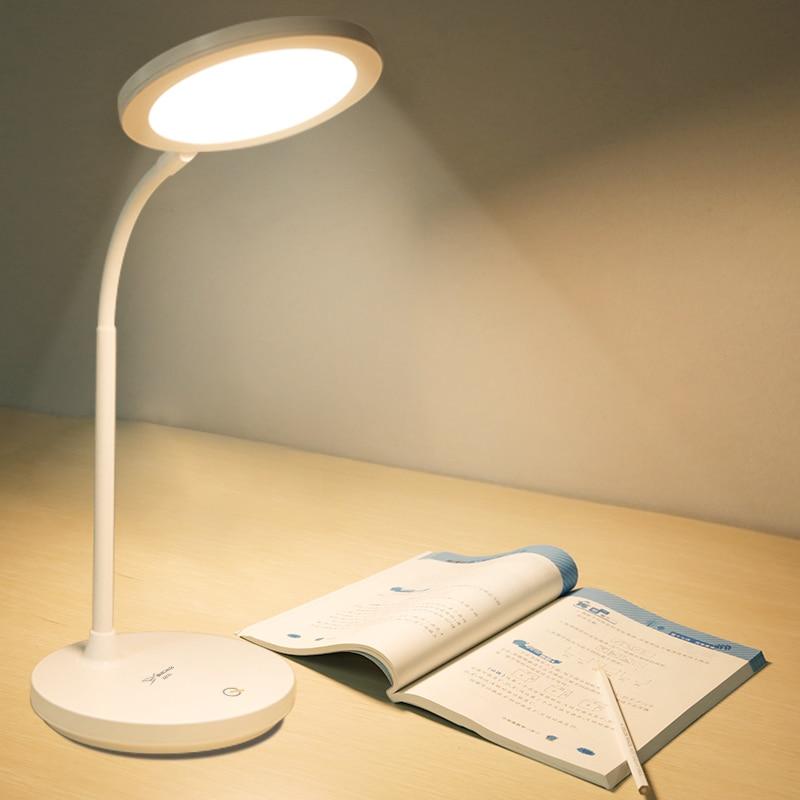 Interrupteur tactile Yage 3 couleurs lumineuses lampe de bureau rotative Protection des yeux 1200 Mah 18650 inox gradateur Usb 8.4 W lampe de table lumineuse LED