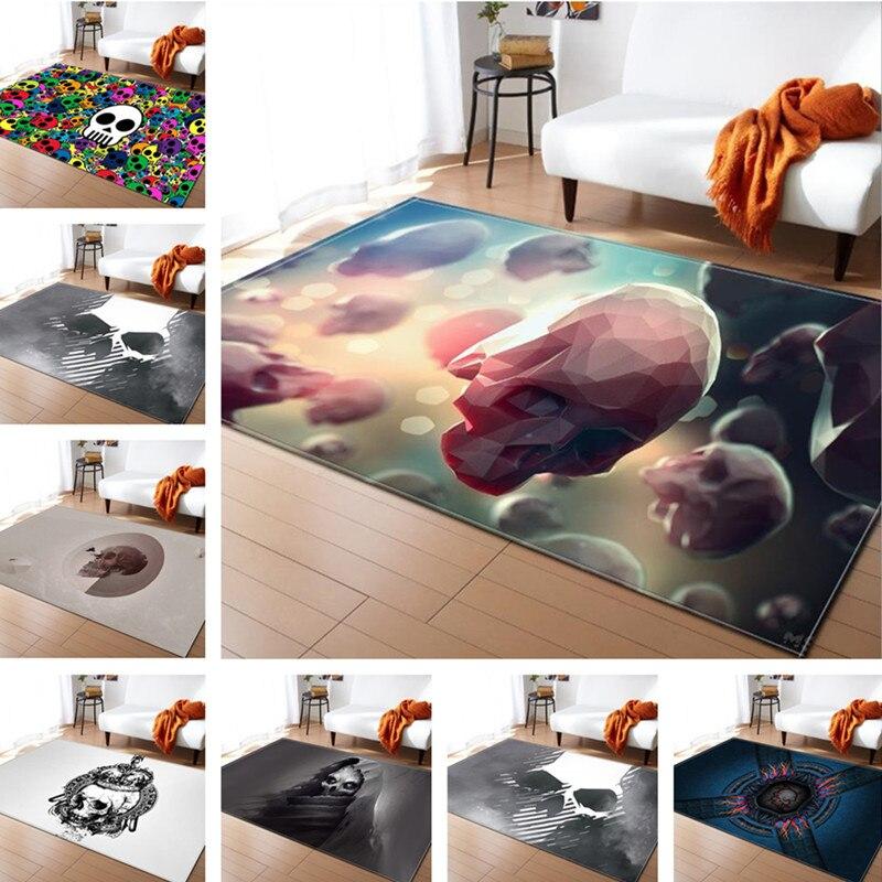 Crâne créatif délicat Europe tapis doux pour salon chambre enfant jouer tapis décoratif maison étage mode étude chambre tapis