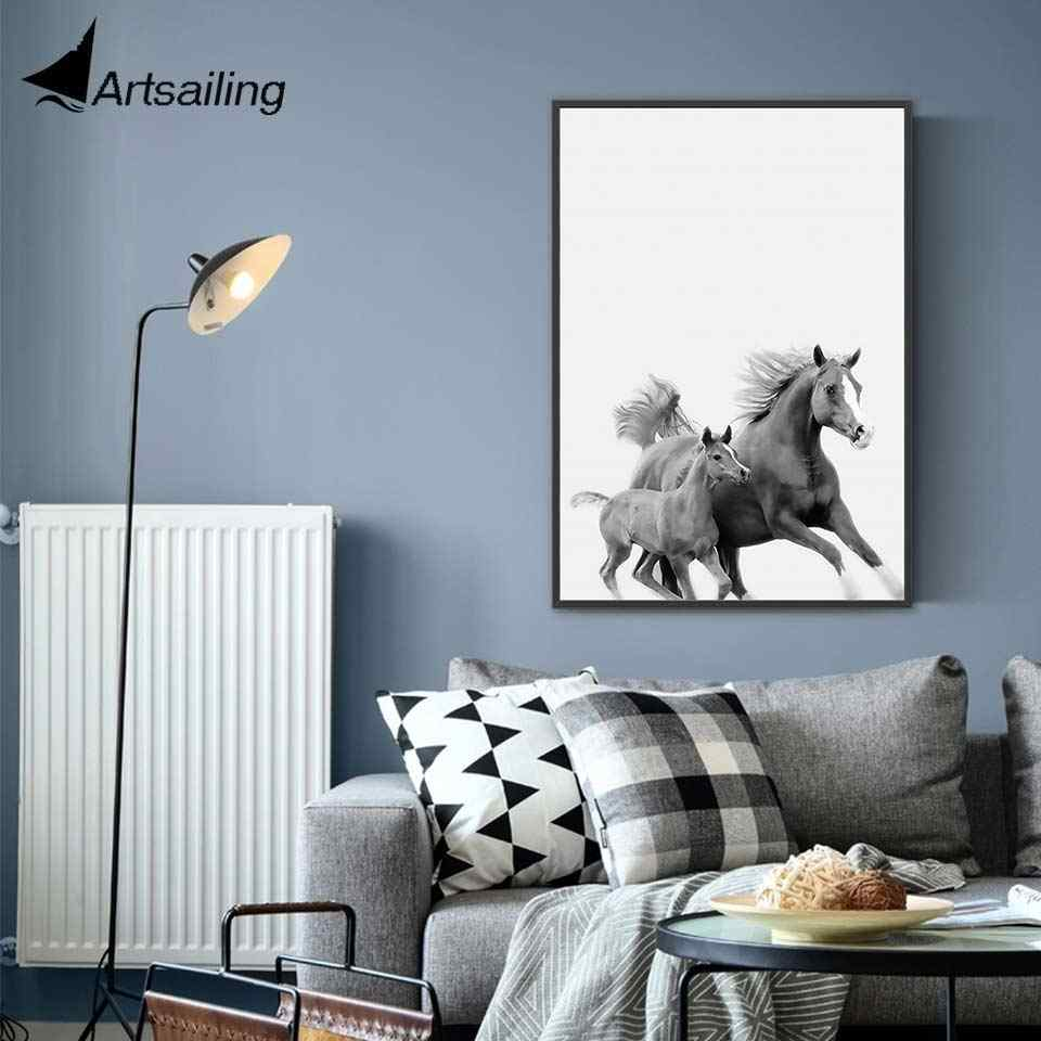 ArtSailing Abstract Nordic canvas art Runing Horse Animal Home decoration posters Pictures for Living Room modern Painting