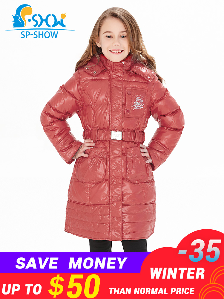 SP-SHOW Luxury Brand Childrens Clothing Children Down Jacket Thick Warm Super Large Raccoon Fur Hat Girls Fashion Warm CoatSP-SHOW Luxury Brand Childrens Clothing Children Down Jacket Thick Warm Super Large Raccoon Fur Hat Girls Fashion Warm Coat