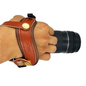 Image 2 - DSLR appareil photo en cuir véritable poignée poignet poignée souple poignée universelle pour Canon Nikon D5000 D3200 Sony Olympus appareil photo