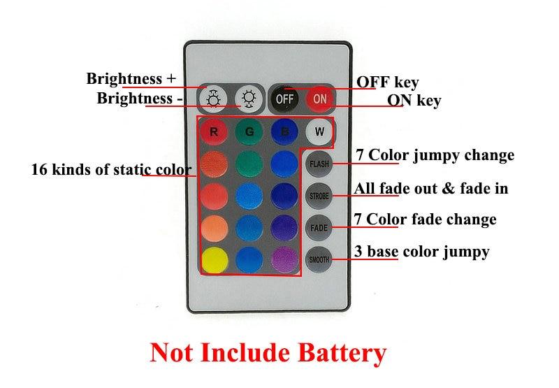 10M LED juostų rinkinys SMD 3528 RGB su 24Keys IR valdikliu su 12V - LED Apšvietimas - Nuotrauka 5