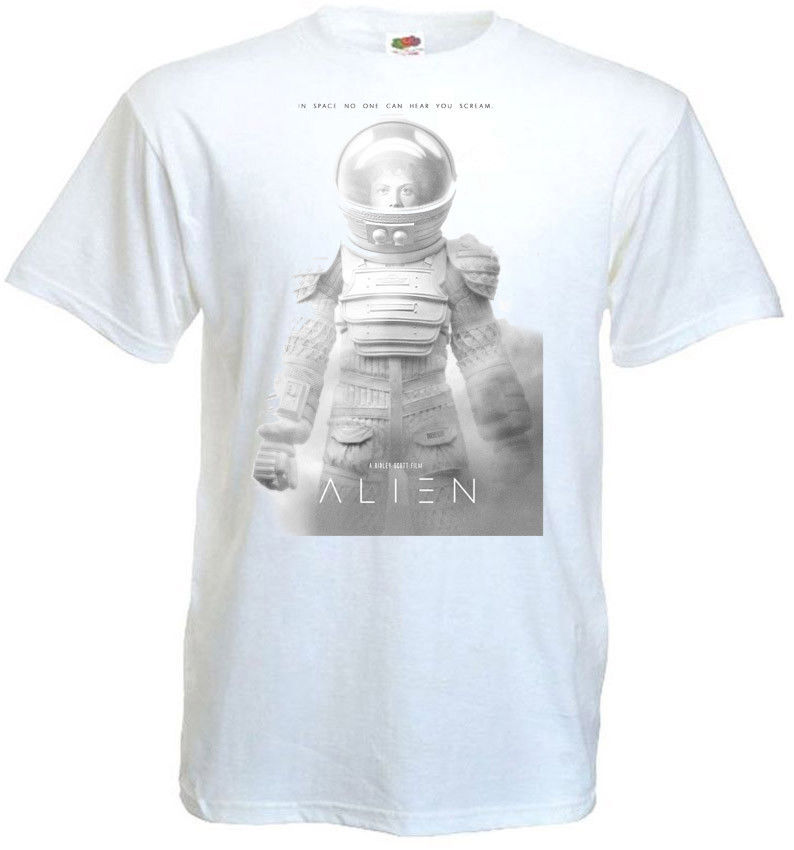 Alien V2 T Shirt White Movie Poster All Sizes S 5Xl Printed T Shirts Short Sleeve Hipster Tee