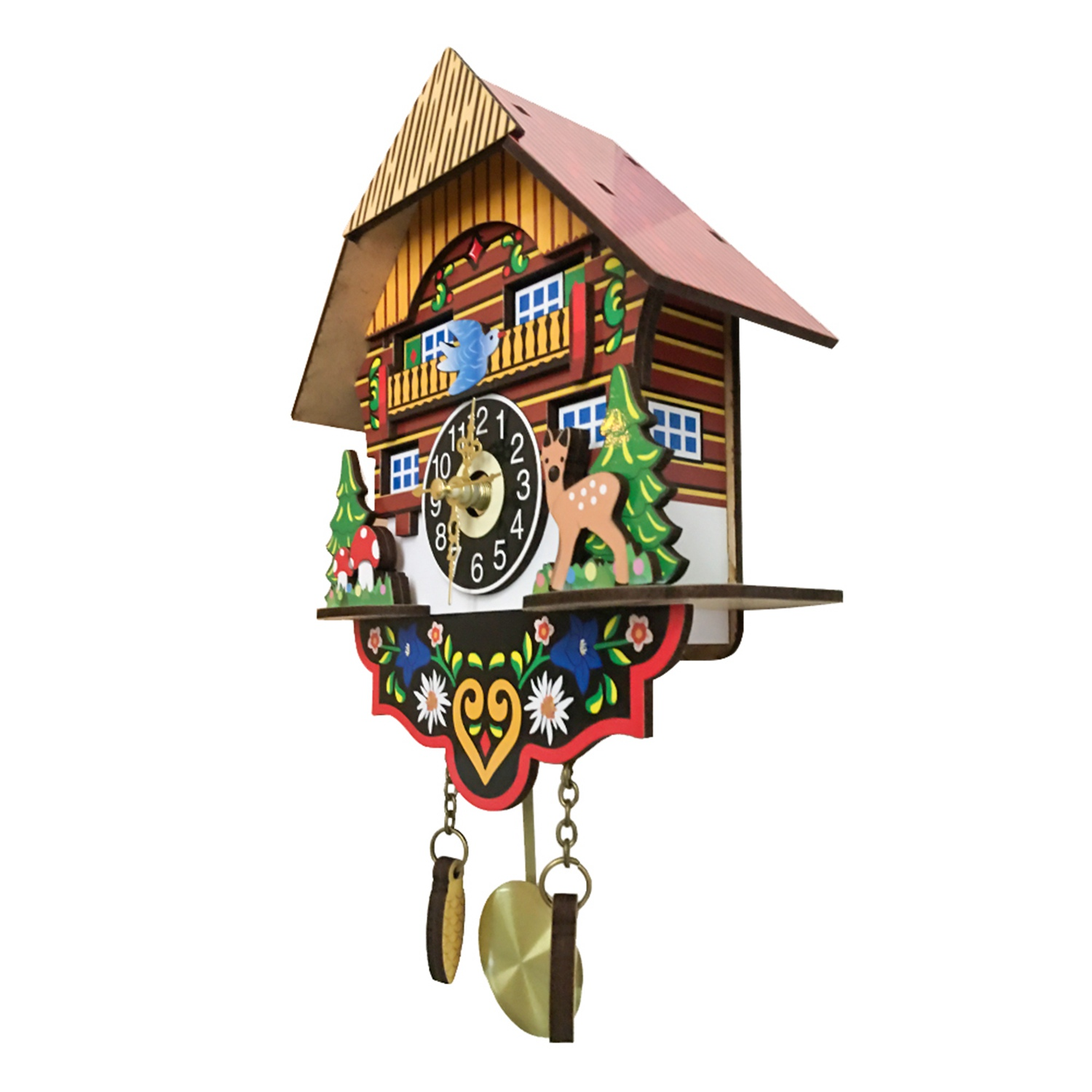 Image 4 - Hot Silent Cuckoo Wall Clock, Yellow European Style Living Room Vintage Wall Clock precise-in Wall Clocks from Home & Garden