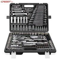 150pcs Tool Set Hand Tools for Car Tire hub Repair Ratchet Spanner Wrench Socket Set Professional Car Repair Tool Kits