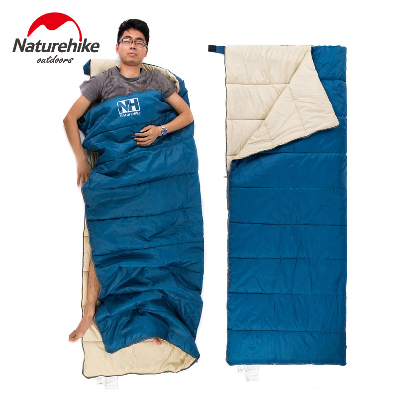 Naturehike Ultralight  Portable Envelope Cotton Sleeping Bag Camping Sleeping Bag Outdoor Camping Travel 3 Colors 0.8kg naturehike envelope shaped sleeping bag cotton portable outdoor travel camping hiking sleeping bag for adult with carry bag