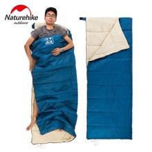 Naturehike Ultralight  Portable Envelope Cotton Sleeping Bag Camping Sleeping Bag Outdoor Camping Travel 3 Colors 0.8kg
