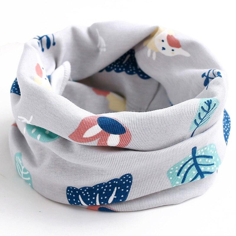 Осенне-зимний детский хлопковый плюшевый шарф, детский шарф для девочек, шарфы для мальчиков и девочек, детский воротник, детский волшебный шейный платок с круглым вырезом - Цвет: gray sheep