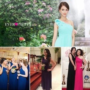 Image 5 - ארוך שושבינה שמלות אי פעם די EP08237 נשים של אחת כתף פרחוני מרופד vestidos שיפון שמלות למסיבת חתונה