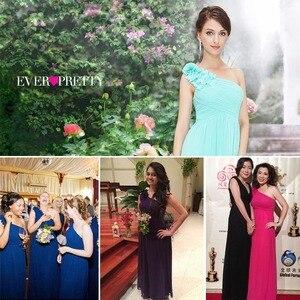 Image 5 - Длинные платья подружки невесты Ever Pretty EP08237, женские шифоновые платья на одно плечо с цветочной подкладкой для свадебной вечеринки