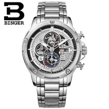 2016 Hot Watches Men Top Brand Binger Luxury Wristwatches Stainless Steel Casual Watch Relogio Masculino Fashion