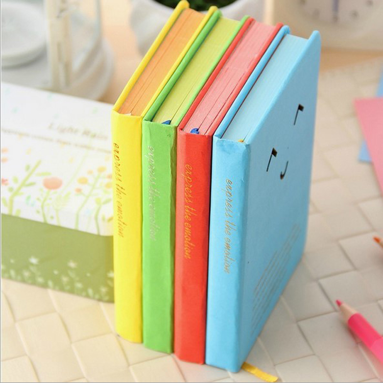 MIRUI stationery creative smiling expression Hard copy laptop notebook graduation gift diary book 2