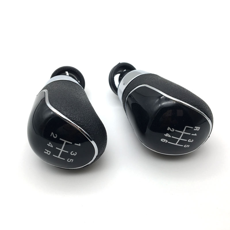 5 Speed 6 Gear Shift Knob Manual Black / Silver For Ford Focus 2 MK2 FL MK3 MK4 MK7 MONDEO KUGA GALAXY FIESTA Car Styling
