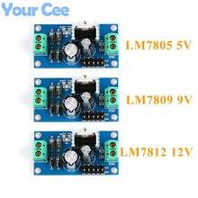 LM7805 LM7809 LM7812 DC/AC Three Terminal Voltage Regulator Power Supply Module 5V 9V 12V Output Max 1.2A
