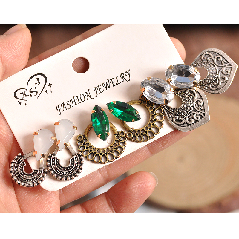 US $1.44 50% OFF|2018 fashion women's jewelry wholesale girls birthday party pearl earrings set mashup 3 pairs /set earrings Free shipping-in Stud Earrings from Jewelry & Accessories on Aliexpress.com | Alibaba Group