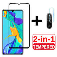 2 in 1 Protective Glass For Huawei P30 P30lite Camera Screen Protector Tempered Glas For Huawei P 30 lite 30lite light Lens Film