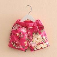 Kz-1996 2017 Summer Wear Korean Peony Flower Colour Girl Children's Garment Shorts Baby Children Leisure Time Tight Pants