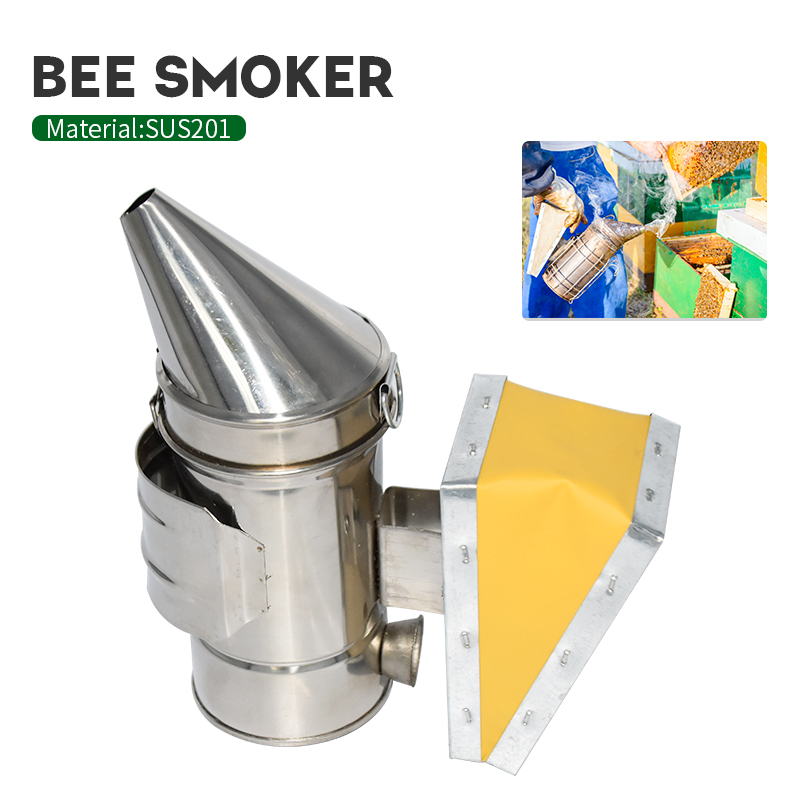 Beekeeping Tools Stainless Steel Manual Bee Smoke Transmitter Kit Beekeeping Tool Apiculture Beekeeping Smoker Sprayer