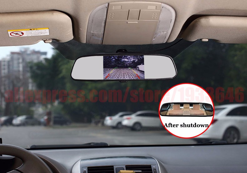 Rear view mirror display-1
