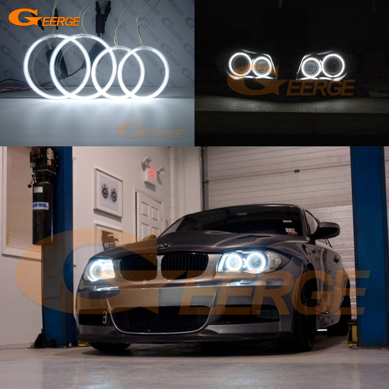 For BMW 1-serie E81 E82 E87 E88 2004-2012 XENON HOVEDLYS Utmerket Angel Eyes Ultralykt belysning CCFL Angel Eyes-sett