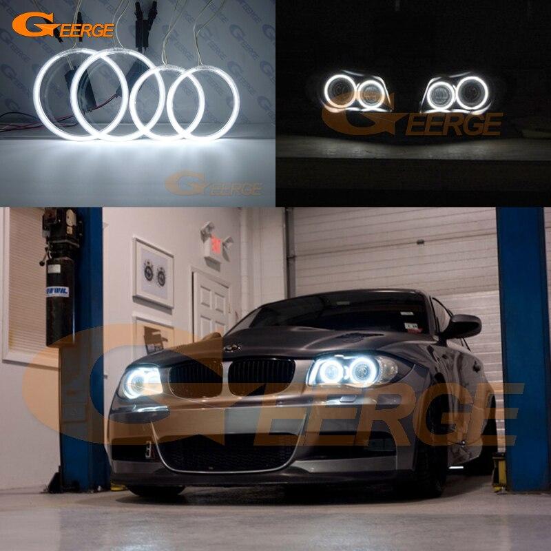 For BMW 1 Series E81 E82 E87 E88 2004 2012 XENON HEADLIGHT Excellent Angel Eyes Ultra bright illumination CCFL Angel Eyes kit