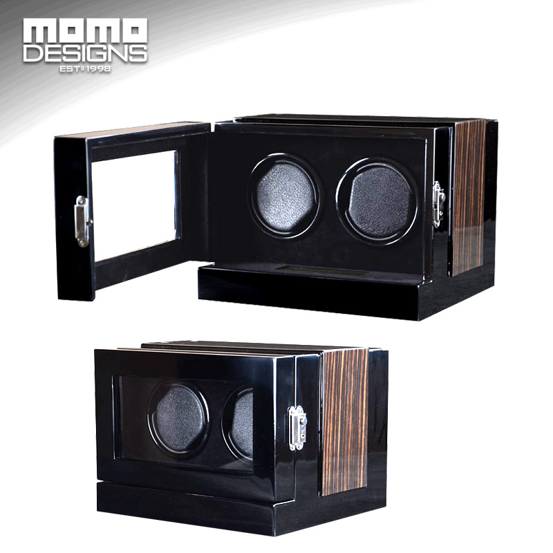 NEW arrived Watch winder 2 slots watch storage box wooden watch reel winder display for watch store show case
